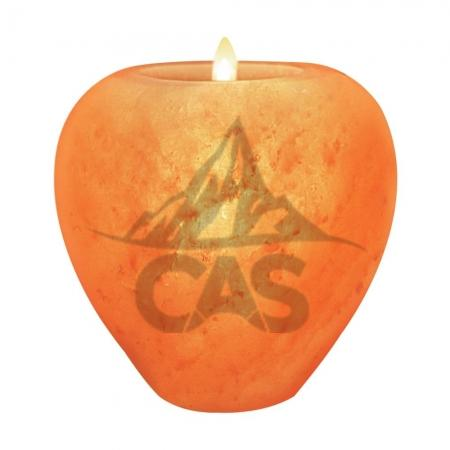 Himalayan Salt Apple Candle Holder